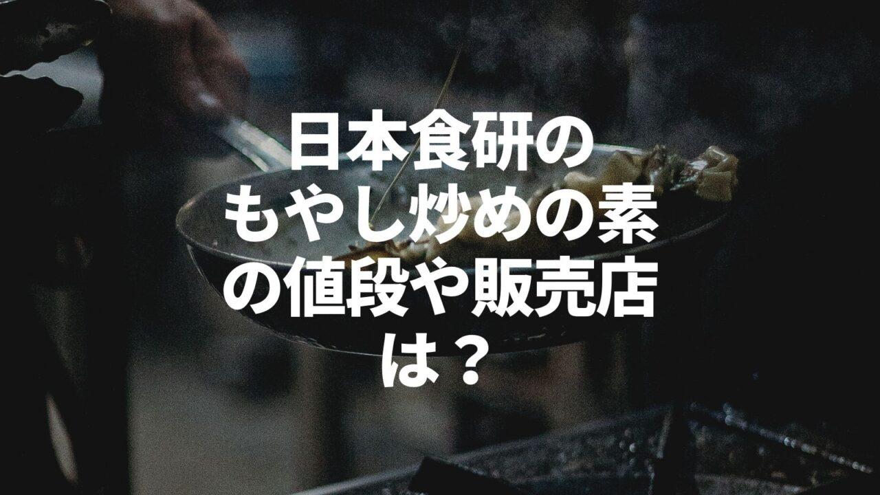 日本食研の もやし炒めの素の値段や販売店は?